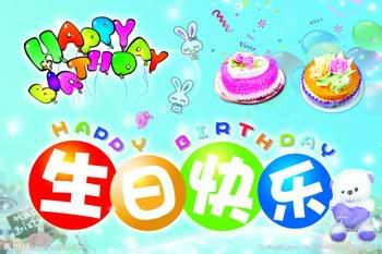 生日快乐艺术字送祝福图片